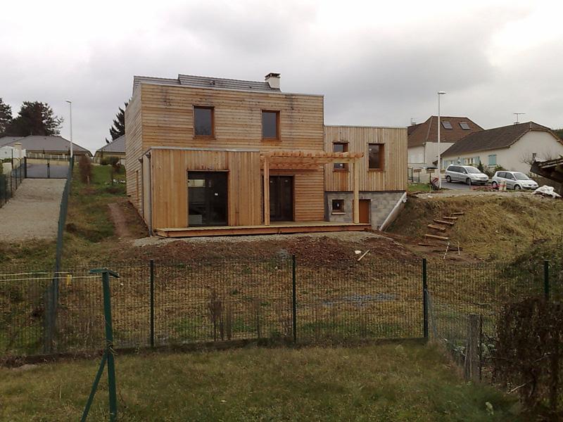 Maison Bioclimatique Ossature Bois Vincent Souffron Architecte