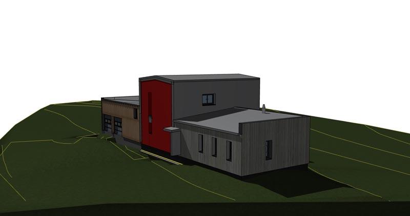 Maison n tulle vincent souffron architecte for Cout construction maison rt 2012