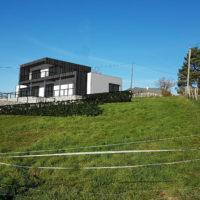 Construction maison contemporaine bardage eternit+ zinc #maisonbois #maisonmoderne #architecturecontemporaine #Eternit